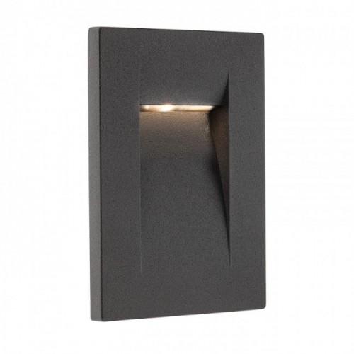 Aplică Inner de încastrat în perete, pentru exterior sau interior, cu lumină asimetrică 9549 Redo Outdoor