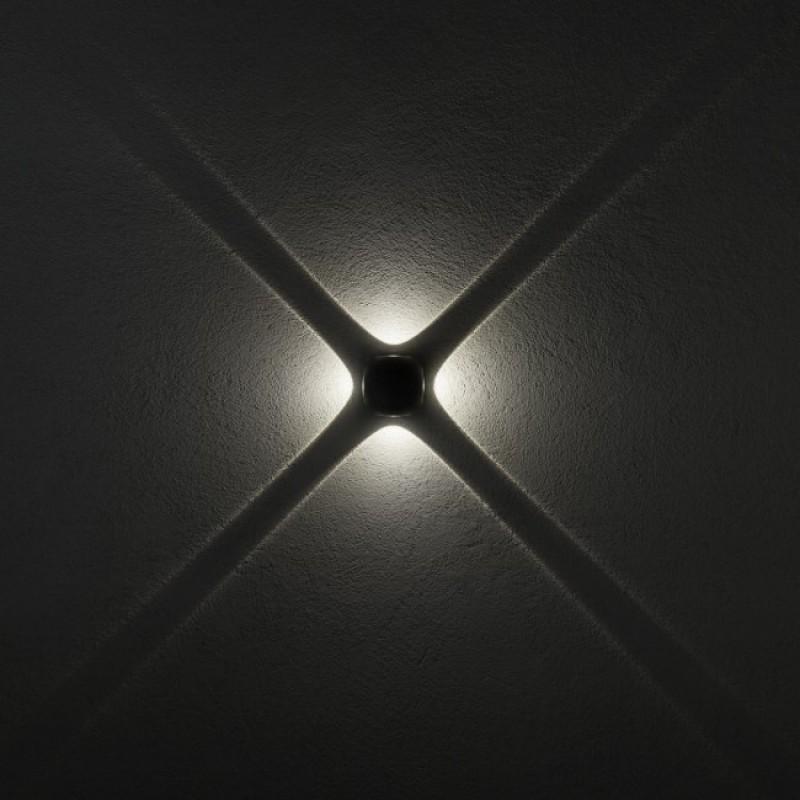 Aplică Milestone pentru exterior echipată cu POWER LED corp din aluminiu 9169 Redo Outdoor