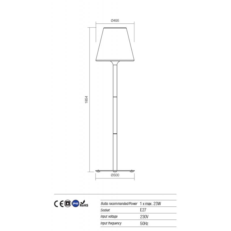 Lampadar Pino pentru exterior rezistent la UV 9679 Redo Outdoor