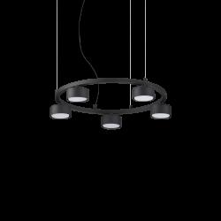 Suspensie de interior Cadru și difuzoare din metal acoperit cu pulbere cu finisaj negru 235516 MINOR IDEAL LUX
