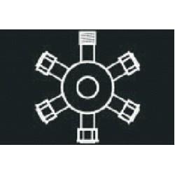 "Ramificatie ""6"" gama Profi DD-9017 Dablerom"