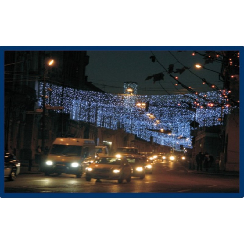 """Cordon LED perdea """"Multi"""" 1.5 metri albastru 30-1911540 Dablerom"""