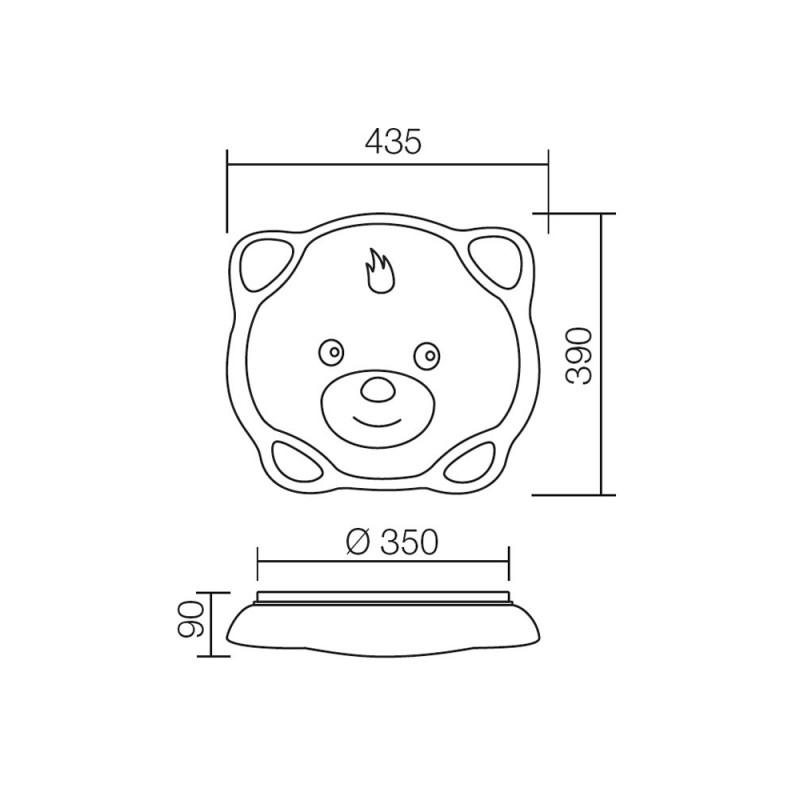 Plafoniera Bogy pentru interior,echipata cu leduri SMD 04-442 Smarter