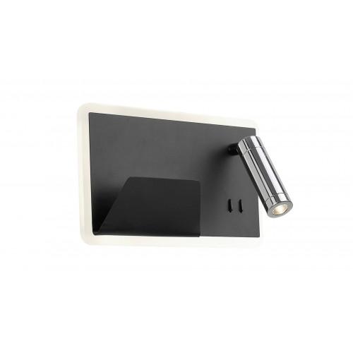 Aplică BOARD R negru mat & crom & alb 141000 KLAUSEN STATEMENT COLLECTION