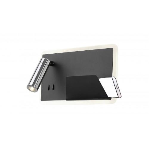 Aplică BOARD L negru mat & crom & alb 141001 KLAUSEN STATEMENT COLLECTION