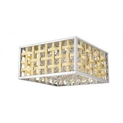 Plafonieră COLUMBUS PL4 crom & gold KLAUSEN Charm Collection