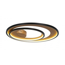 Plafonieră CRYPTIC PL2 negru & gold 140015 KLAUSEN STATEMENT COLLECTION