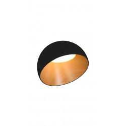 Plafonieră TILTED negru & imitație lemn KLAUSEN Scandi Collection