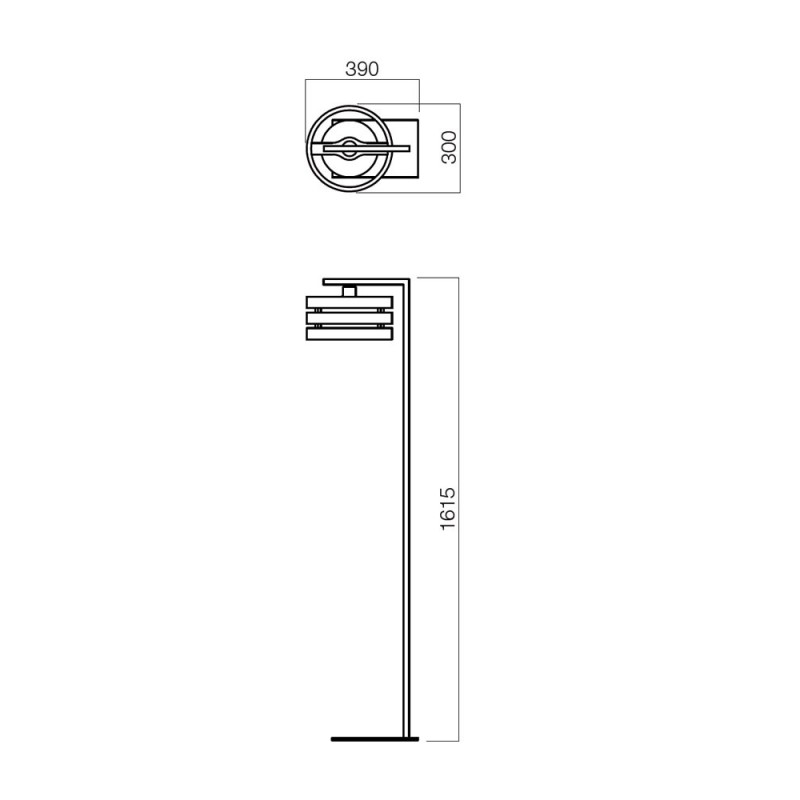 Lampadar Kim structura din metal si lemn si abajur din sticla 01-481 Smarter