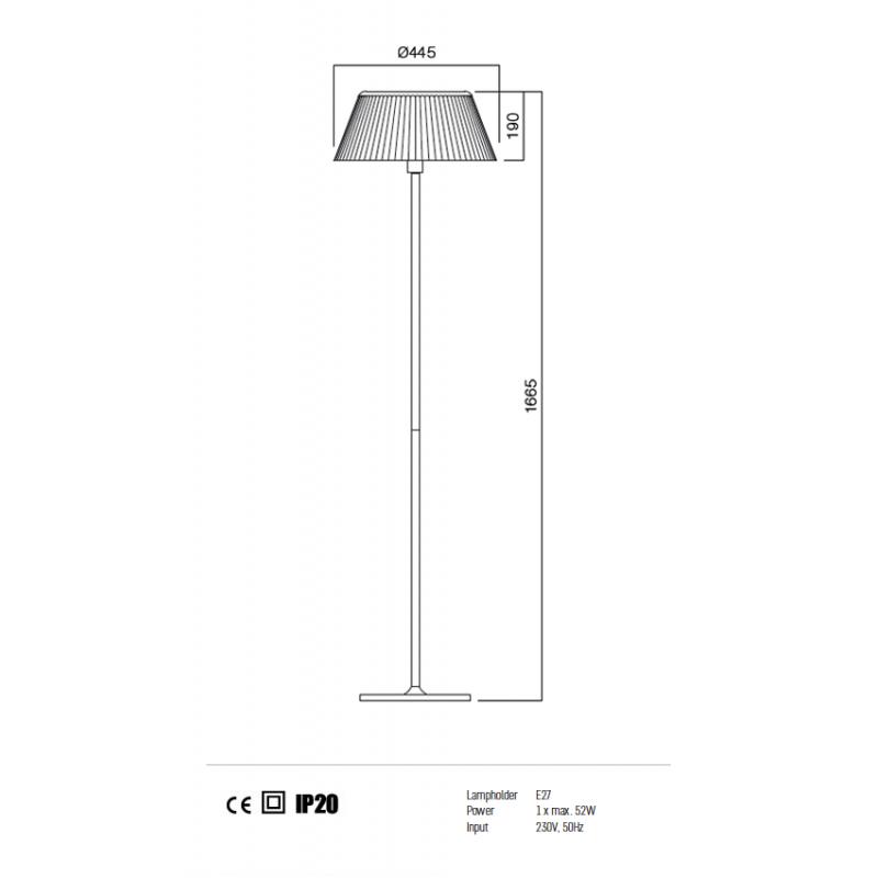 Lampadar Today structura din metal si dispersor din sticla 01-571 Redo