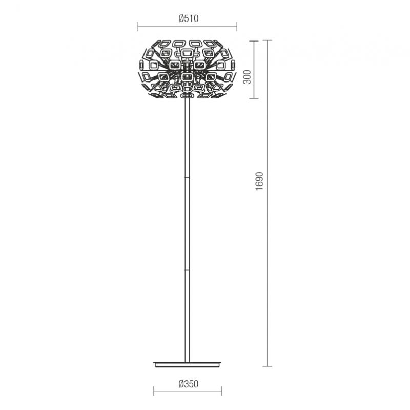 Lampadar Nova structura din metal echipat cu Led-uri SMD 01-932 Redo