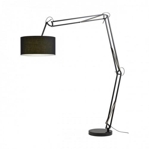 Lampadar Azar structură din metal si abajur negru E27 02-386 Redo