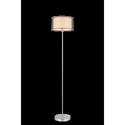 Lampadar Anastasia structura din metal cromat si abajur textil maro 2633 Rabalux