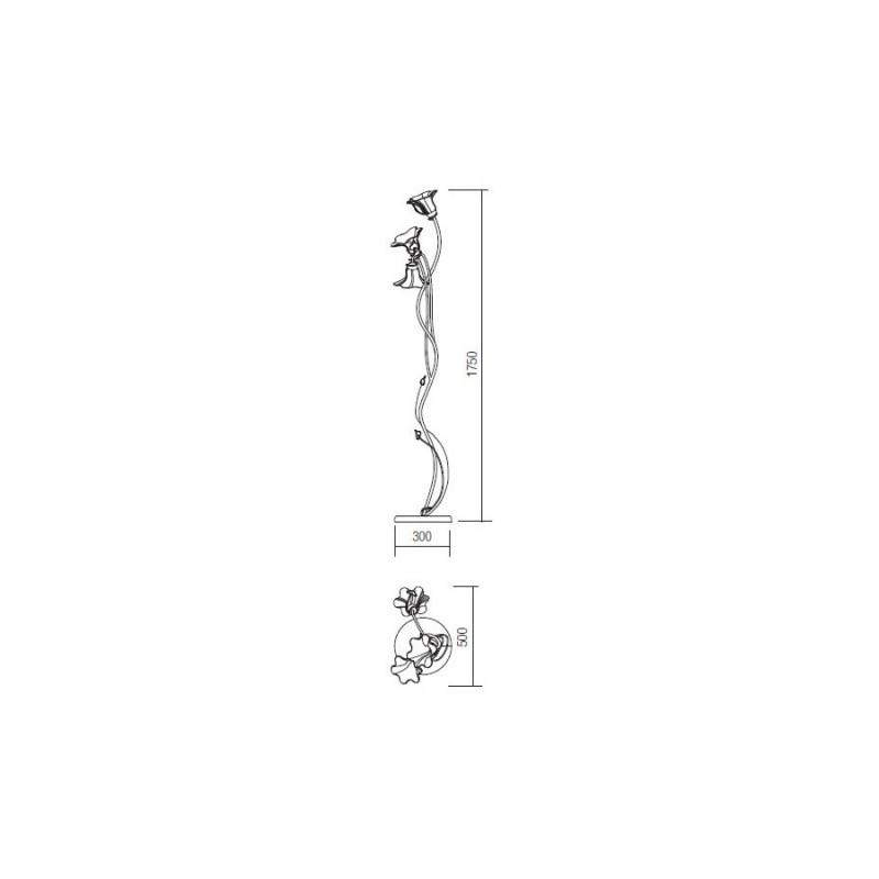 Lampadar Dalila structura din metal detalii din fier forjat IDL F3 05 Incanti