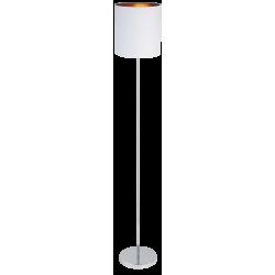 Lampadar Monica structura din metal cromat si abajur din material textil alb 2529 Rabalux