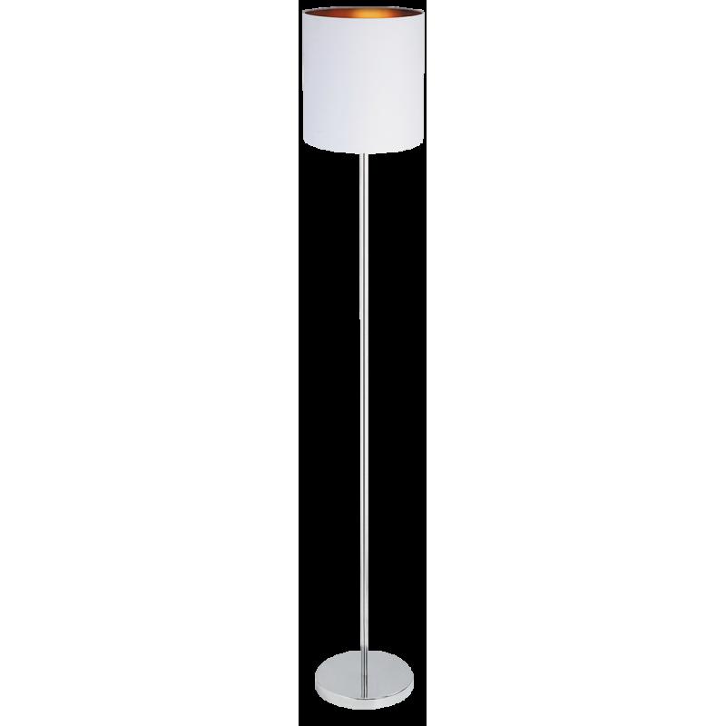 LAMPADAR METAL ALB SI ABAJUR DIN MATERIAL TEXTIL MONICA 2529 RABALUX