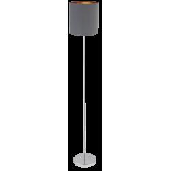 Lampadar Monica structura din metal cromat si abajur din material textil gri 2539 Rabalux