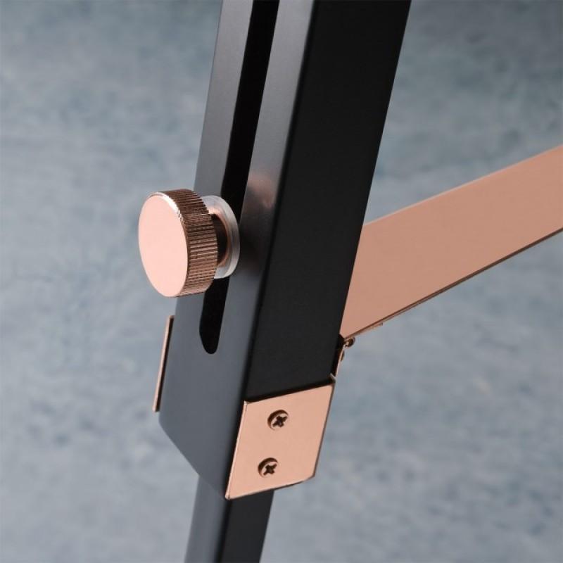 Lampadar trepied Tripod structura din lemn si metal si dispersor din PVC cuprat 02-387 Redo