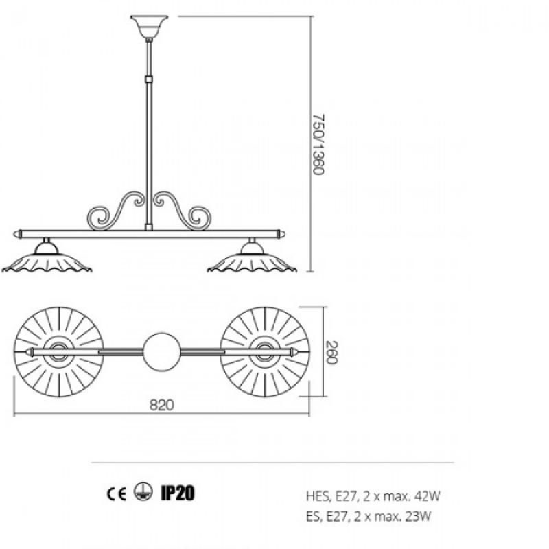 Lustra Lea structura din metal 02-805 CC26 Redo