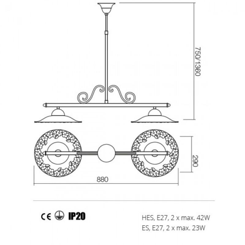 Lustra Lea structura din metal 02-805 CF29 Redo