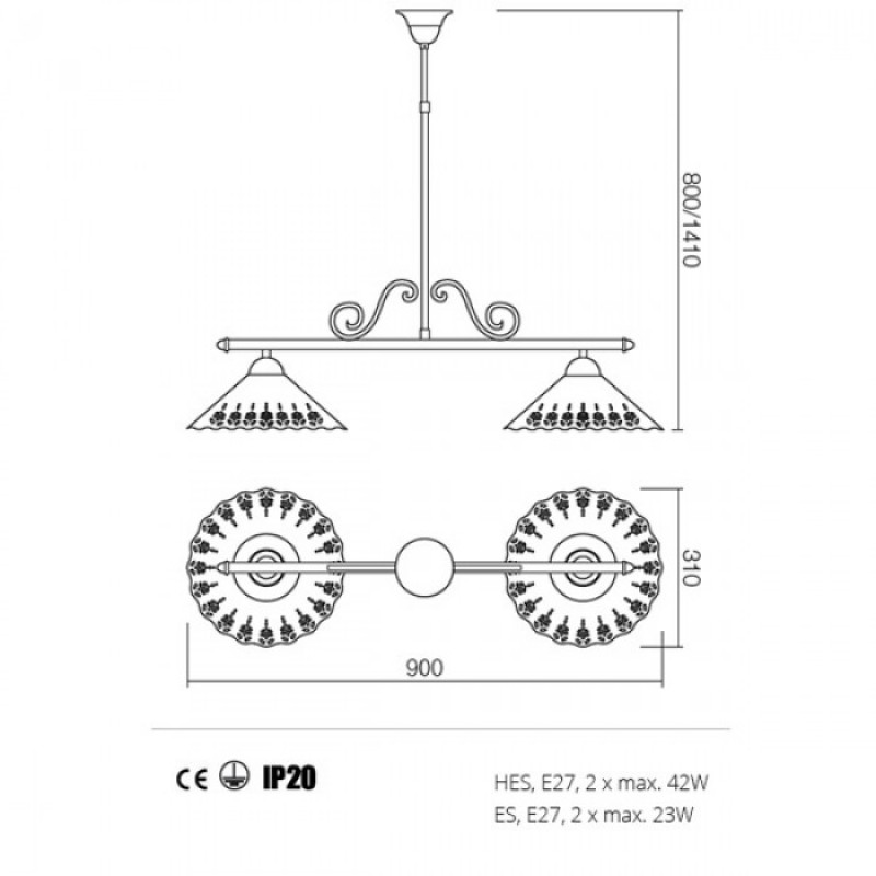 Lustra Lea structura din metal 02-805 CT31 Redo