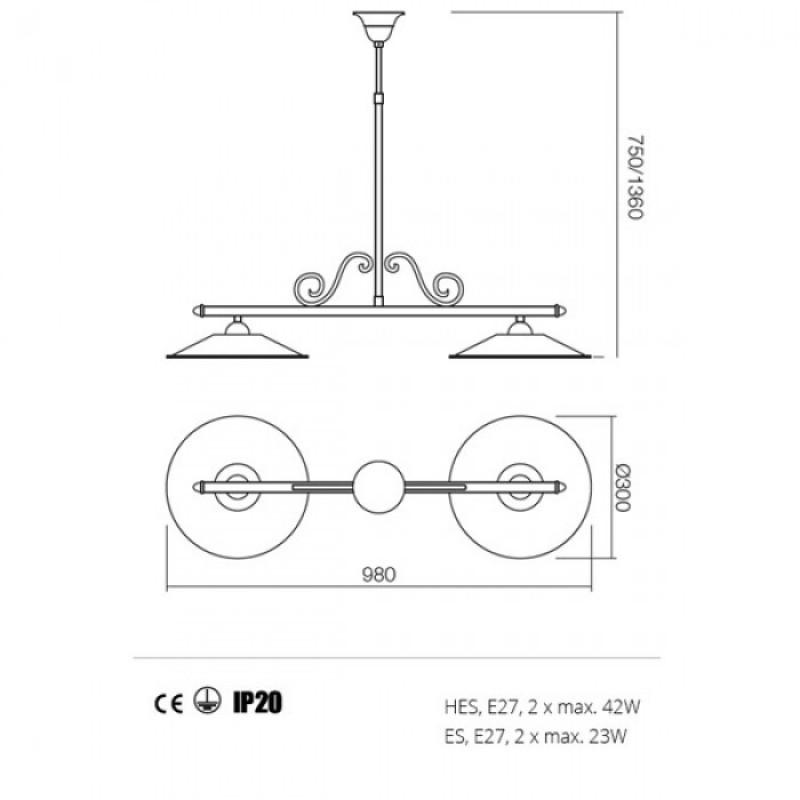 Lustra Lea structura din metal 02-805 M30 Redo