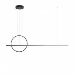 Lustra Redo Giotto - 01-1735, negru mat, LED, 49W, 3724 lumeni, alb cald 3000K