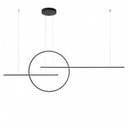 Lustra Redo Giotto - 01-1737 negru mat, LED, 66W, 5016 lumeni, alb cald 3000K