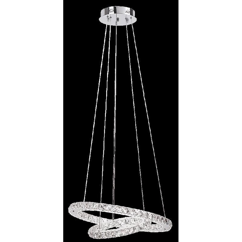 Pendul Carrie structura din metal abajur din sticla 2442 Rabalux