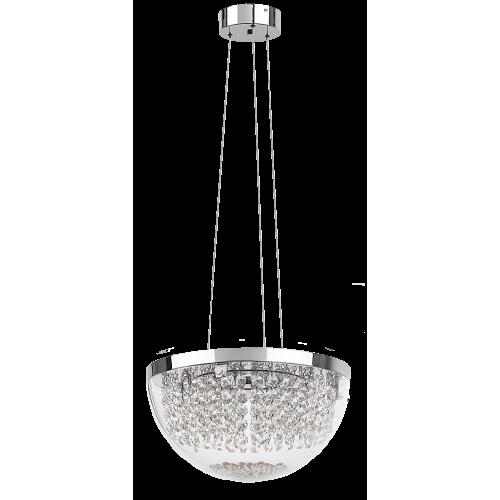 Pendul Nyssa LED structura din metal abajur din sticla cu detalii din cristal de sticla 2506 Rabalux
