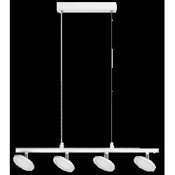 Pendul Elsa structura din metal alb mat cu LED-uri si abajur din plastic 2716 Rabalux