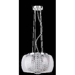 Pendul Samantha structura din metal abajur din sticla si decoratiuni din cristal de sticla 2760 Rabalux