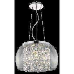 Pendul Brillant structura din metal abajur din sticla si detalii din cristal de sticla 2820 Rabalux