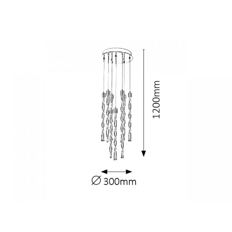 Pendul Raina LED structura din metal abajur din metal 5766 Rabalux