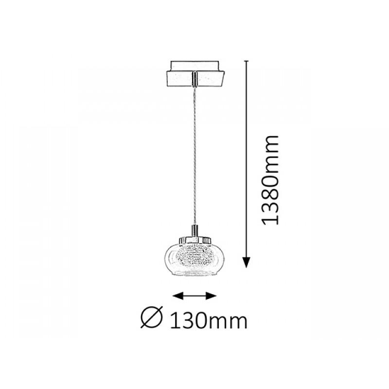 Pendul Karissa LED structura din metal abajur din sticla 6219 Rabalux