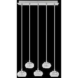Suspensie Karissa LED structura din metal abajur din sticla 6220 Rabalux