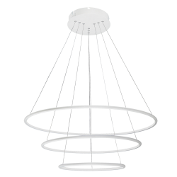 Pendul Donatella structura din metal cu LED-uri si abajur din plastic 2545 Rabalux