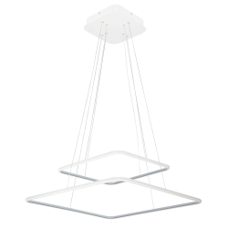 Pendul Donatella structura din metal cu LED-uri si abajur din plastic 2546 Rabalux