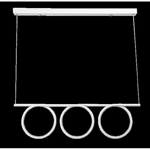 Pendul Donatella structura din metal cu LED-uri si abajur din plastic 2548 Rabalux