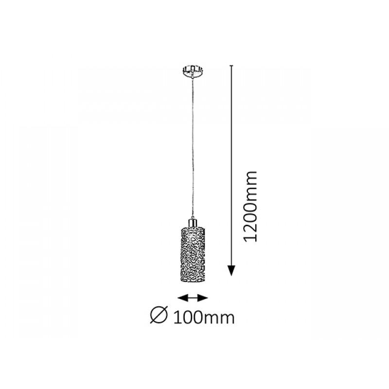 Pendul Joy structura din metal si abajur din impletitura metalica 6397 Rabalux