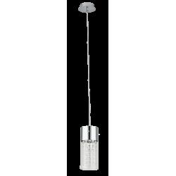 Pendul structura din metal si abajur din cristal transparent WATERFALL 6446 RABALUX