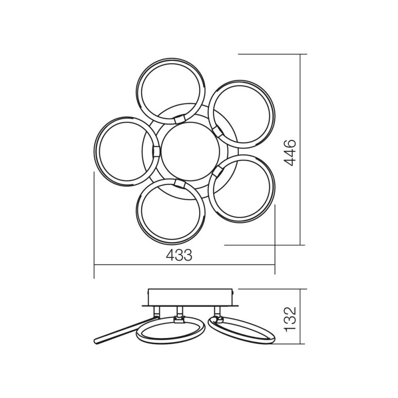 Plafoniera Halo structura din aluminiu echipata cu Led-uri SMD 01-1181 Smarter