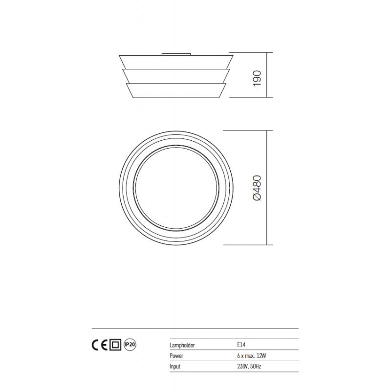 Plafoniera Calypso structura metalica alb mat 01-925 Redo