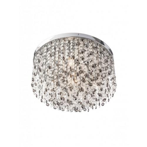Plafoniera Cascade din inox si metal cromat cu decoratiuni din cristal 02-375 Smarter