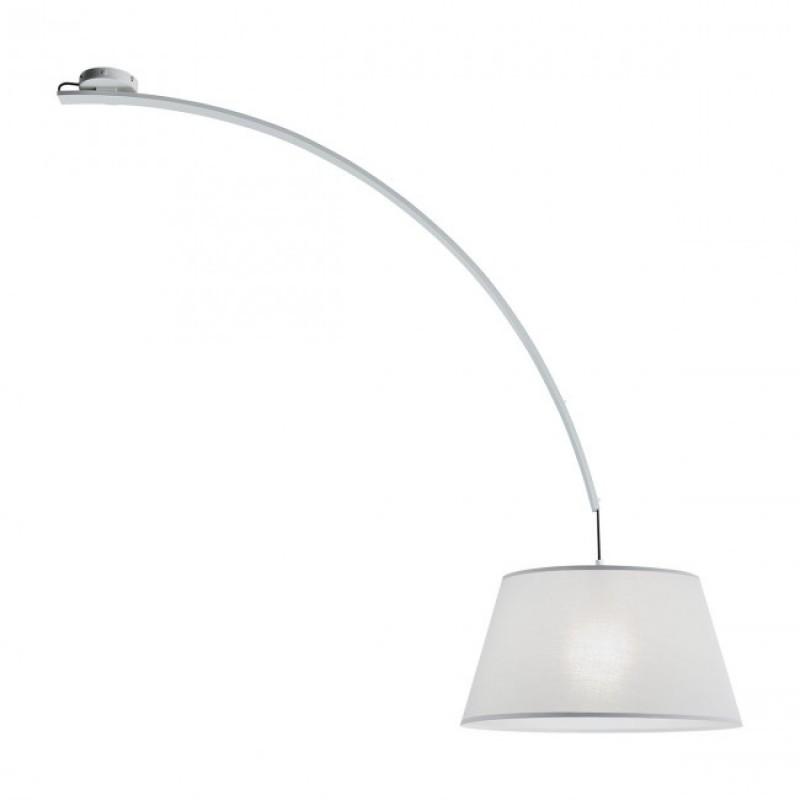 Plafoniera Swap pentru interior structura din metal vopsit in alb abajur din material textil pe suport PVC 02-381 Redo