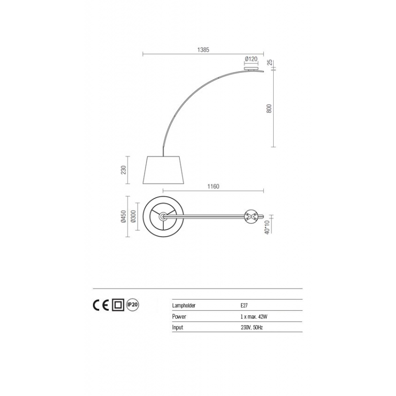 Plafoniera Swap pentru interior structura din metal vopsit in negru abajur din material textil pe suport PVC negru si cablu textil rosu 02-382 Redo