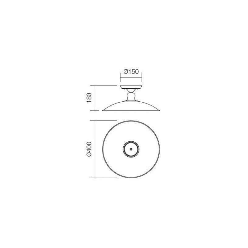 Plafoniera Lena structura metalica E27 02-757 Incanti
