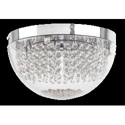 Plafoniera Nyssa structura din metal abajur din sticla cu detatii din cristal de sticla  2505 Rabalux