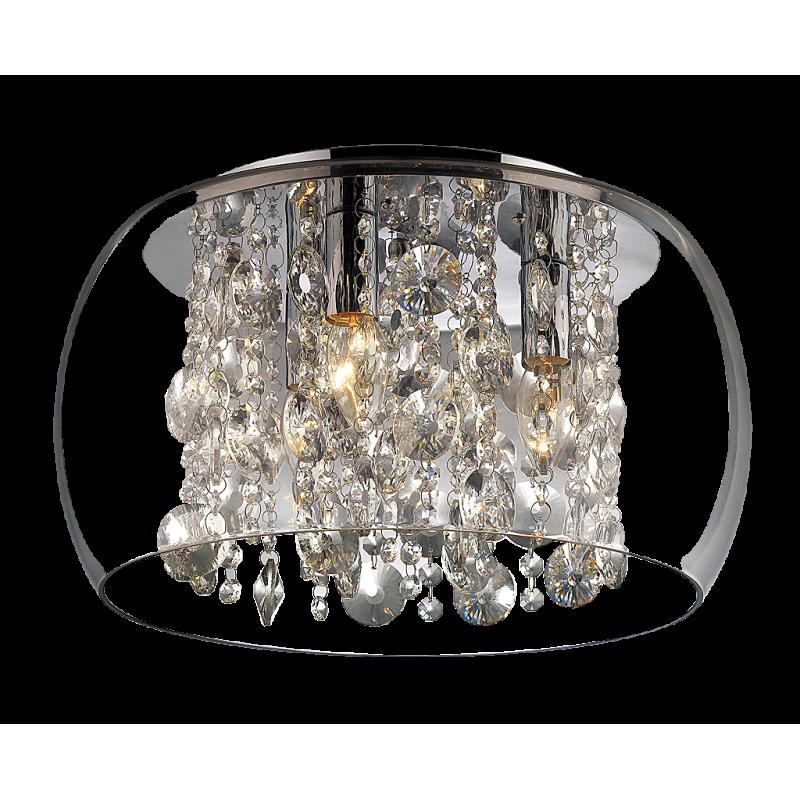 Plafoniera Brillant structura din metal abajur din sticla si detalii din cristal de sticla 2827 Rabalux