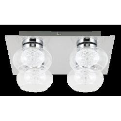Plafoniera Karissa LED structura din metal abajur din sticla 6229 Rabalux